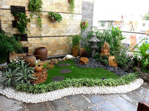 4. Tiểu cảnh sân vườn nhà phố 1