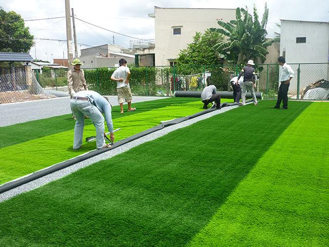 Quy trình thi công sân cỏ nhân tạo - Quy trình làm sân cỏ nhân tạo 1