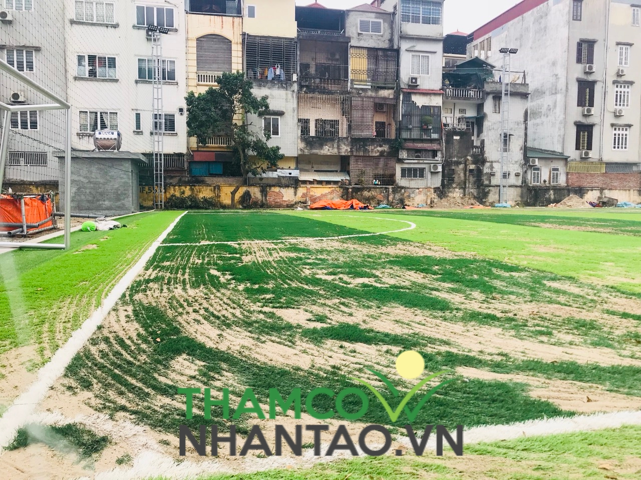 Một vài hình ảnh của dự án sân bóng đá tại Học viện Quốc phòng, Hà Nội: 4