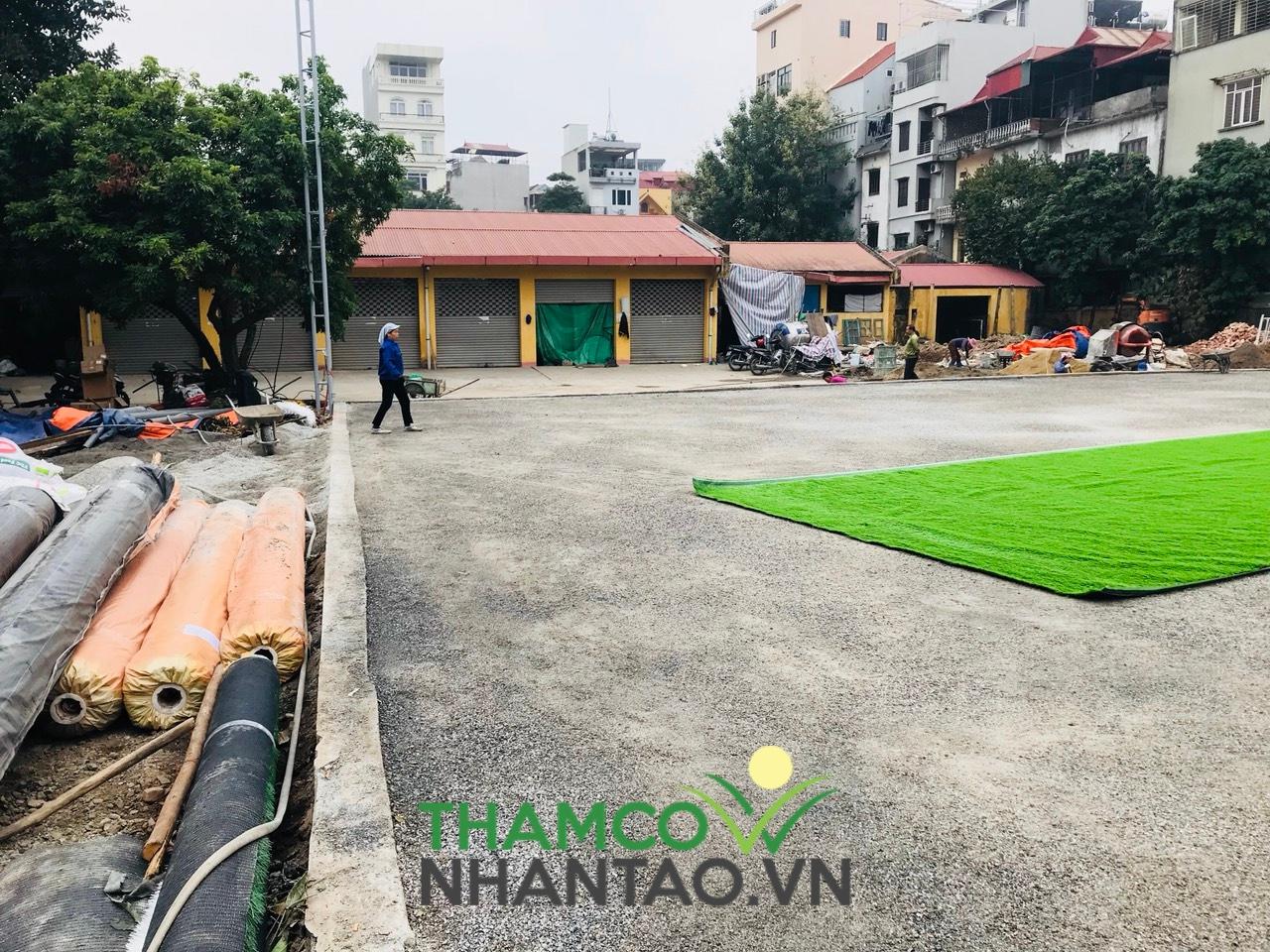 Một vài hình ảnh của dự án sân bóng đá tại Học viện Quốc phòng, Hà Nội: 2