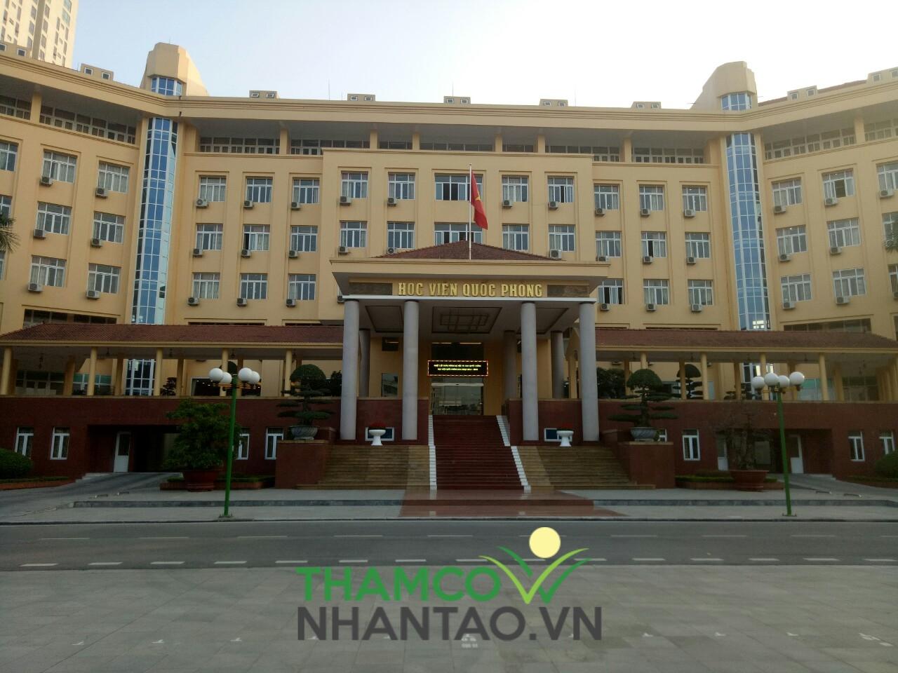 Một vài hình ảnh của dự án sân bóng đá tại Học viện Quốc phòng, Hà Nội: 1