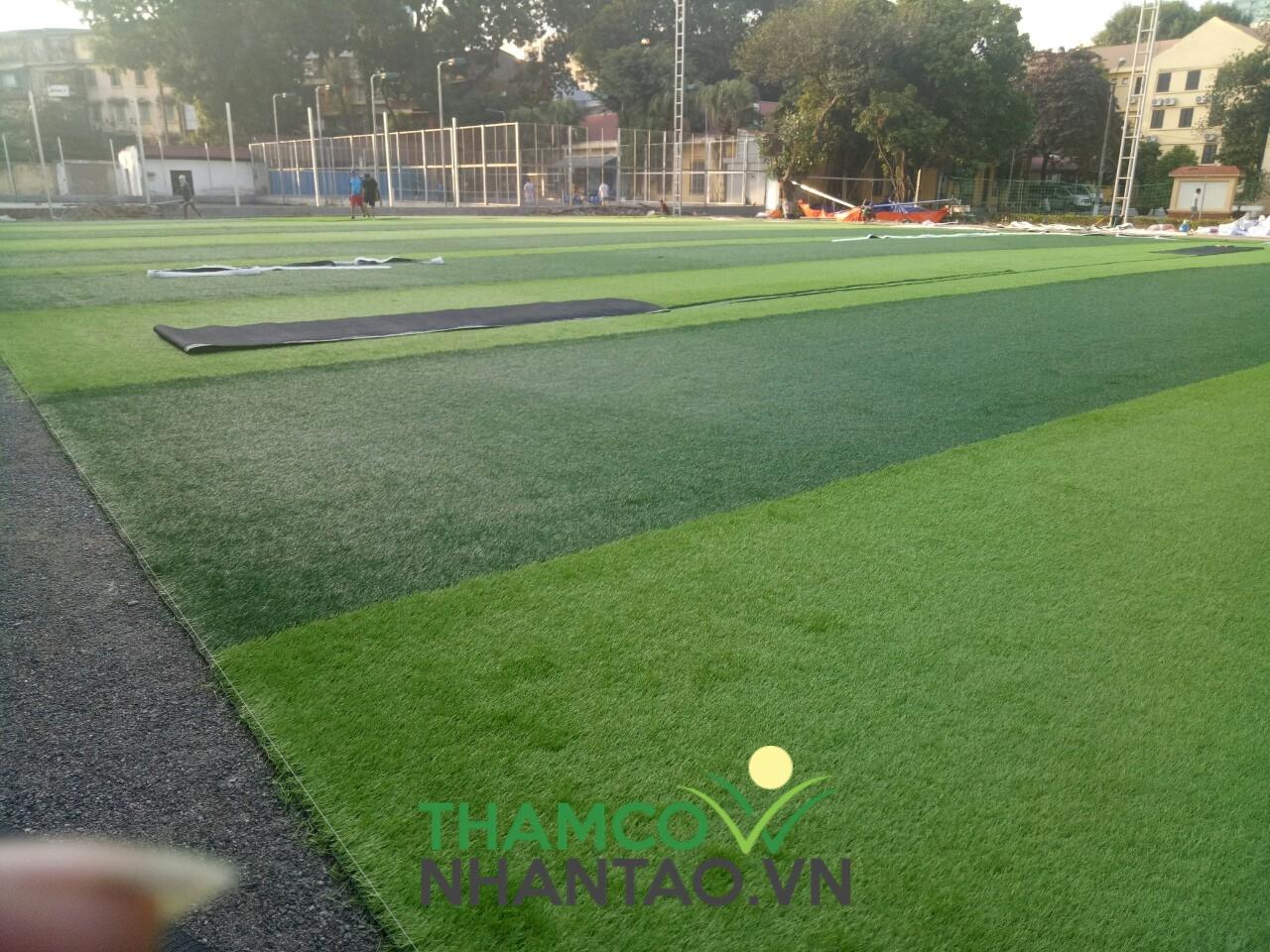 Một vài hình ảnh của dự án sân bóng đá tại Học viện Quốc phòng, Hà Nội: 3