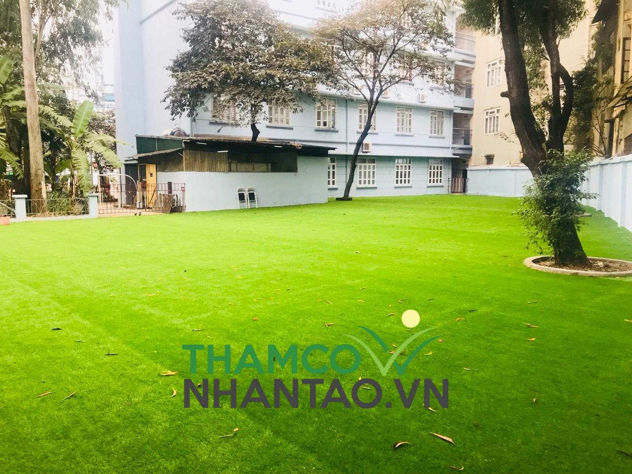 Một vài hình ảnh của dự án sân vườn trường tiểu học Thanh Lương quận Hai Bà Trưng, Hà Nội: 1