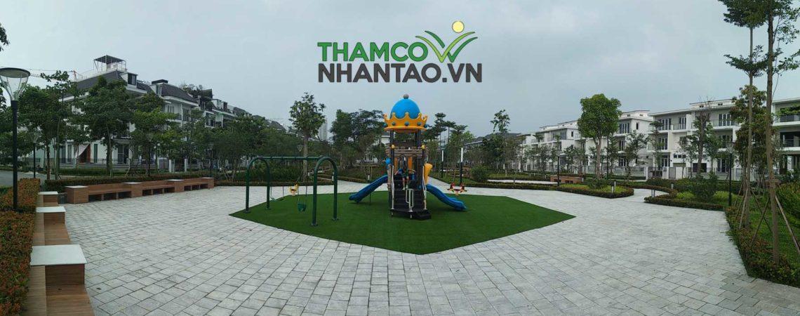 Dự án sân vườn cỏ nhân tạo khu đô thị Ciputra biệt thự khu Q-K