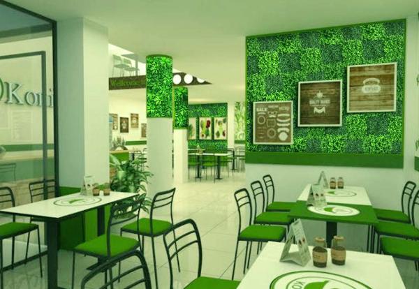 Trang trí tường bằng cỏ nhân tạo 1