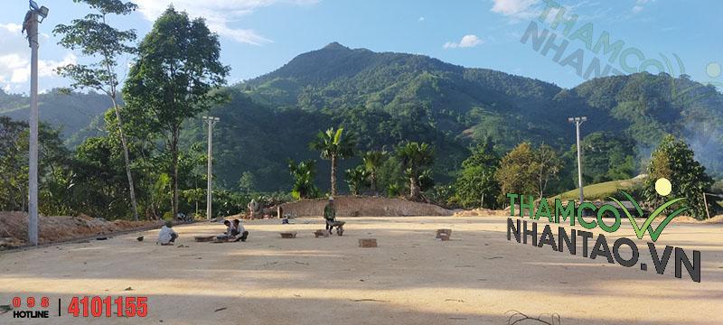 Một vài hình ảnh của dự án sân bóng đá cỏ nhân tạo tại Văn Bàn, Lào Cai: 1
